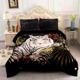 5 of Queen Size Blanket White Tiger