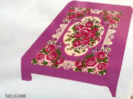 4 of Flower Style King Size Blanket