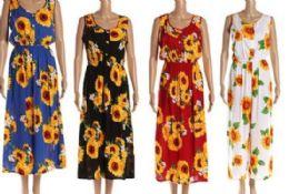 96 of Sun Flower Scoop Neck Long Dresses