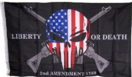 24 of Liberty Or Death USA Skull With Guns Flag
