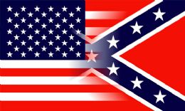 24 of Confederate Flag Blended With American Flag