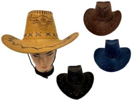 24 of Cowboy Hats Suede PU Leather Western Hats