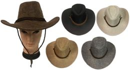 36 of Tweed Cowboy Hat with Hat Band