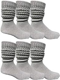 6 of Yacht & Smith Men's Cotton Extra Heavy Slouch Socks, Thick Boot Sock for mens
