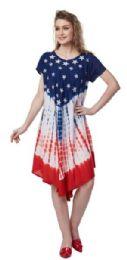 12 of USA Flag Rayon Umbrella Dresses Stars And Stripes