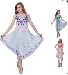 12 of Sea Dye Rayon Umbrella Dresses