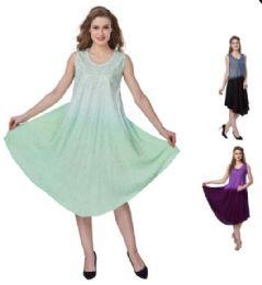 12 of Ombre Dye Rayon Plus Size Umbrella Dresses