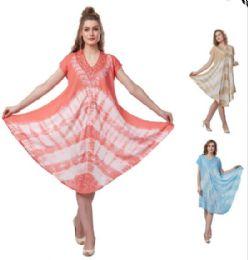 12 of Tie Dye Plus Size Rayon Umbrella Dresses