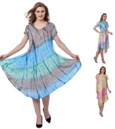 12 of Plus Size Pigment Dye Rayon Umbrella Dresses