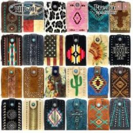 6 of American Bling Cell Phone Wallet Crossbody Assorted