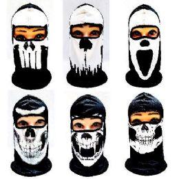36 of Black And White Skull Print Ninja Face Mask