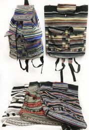 10 of Multicolor Cotton Handmade Backpack with Two Pockets
