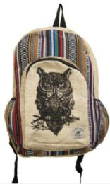 5 of Handmade Hemp Owl Backpack