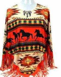 4 of Montana West Aztec Horse Collection Poncho