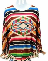4 of Montana West Serape Collection Poncho
