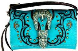 6 of Vintage Western Buckle Wallet Purse Turquoise