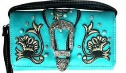 6 of Turquoise Floral Wallet Purse
