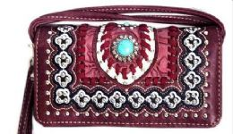 6 of Western Wallet Purse Concho Design Red