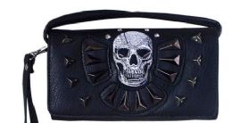 6 of Rhinestone Wallet Purse With Skull And Studs