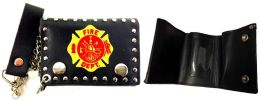 12 of Tri Fold Leather Wallet Fire Department