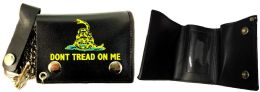 12 of Tri Fold Leather Wallet Don't Tread On Me