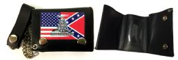 12 of Tri Fold Leather Wallet USA Rebel Combo With Gadsden