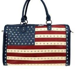 2 of West USA Rhinestone Duffel Bag