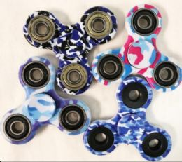 72 of Blue Camouflage Assorted Fidget Spinners