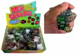 96 of Glitter Squish Ball With Putty Inside Display