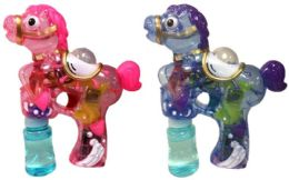 24 of Horse Shaped Bubble Gun Assorted Colors