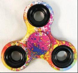 60 of Multicolor Paint Splatter Fidget Spinner