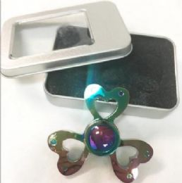 36 of Rainbow Alloy Zinc Metal Hearts Fidget Spinners