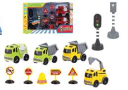 24 of Traffic Vehicle Set With Light And Sound