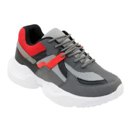 12 of Men's Casual Sneakers In Gray And Red
