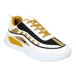 12 of Men's Casual Sneakers In White Gold And Navy