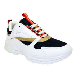12 of Men's Casual Sneakers In White Navy And Red