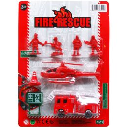 72 of Fire Rescue Play Set On Blister Card
