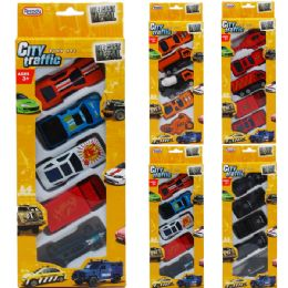 72 of DIECAST CARS AND TRUCKS IN PEGABLE WINDOW BOX