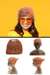 36 of Coral Fabric Beanie