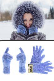 72 of Fuzzy Blue fashion Winter Gloves