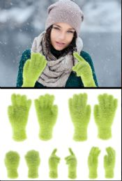 72 of Fuzzy Green Fashion Gloves