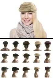 24 of Newsboy Hat Polyester Wool Blend