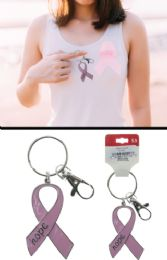 96 of Breast Cancer Awareness Ribbon Hope Keychain