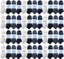 48 of Yacht & Smith Unisex Kids Cotton Shoe Liner Training Socks, No Show, Thin Low Cut Sport Ankle Bulk Socks, 6-8 Assorted