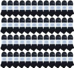 48 of Yacht & Smith Unisex Kids Cotton Shoe Liner Training Socks, No Show, Thin Low Cut Sport Ankle Bulk Socks, 6-8 Black
