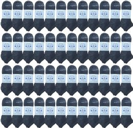 48 of Yacht & Smith Womens 97% Cotton Shoe Liner Training Socks, No Show, Thin Low Cut Sport Ankle Bulk Socks, 9-11 Gray