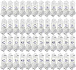 48 of Yacht & Smith Womens 97% Cotton Shoe Liner Training Socks, No Show, Thin Low Cut Sport Ankle Bulk Socks, 9-11 White