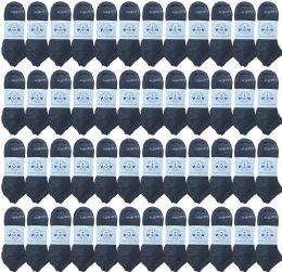 48 of Yacht & Smith Men's Wholesale Shoe Liner Training Socks, No Show, Thin Low Cut Sport Ankle Bulk Socks, 10-13 Gray