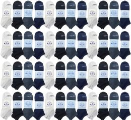 48 of Yacht & Smith Men's 97% Cotton Shoe Liner Training Socks, No Show, Thin Low Cut Sport Ankle Bulk Socks, 10-13 Assorted
