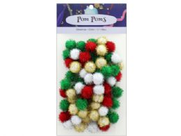 108 of Holiday Glitter 1/2 In  Pom Poms 80pc
